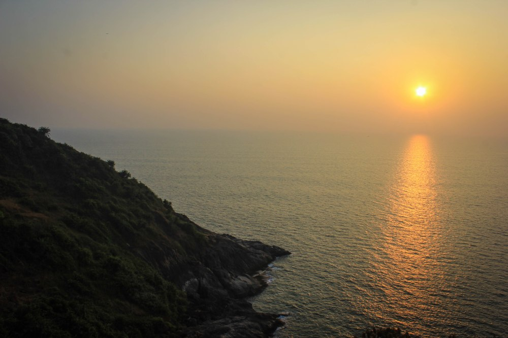 Sunset from Gokarna Hill top